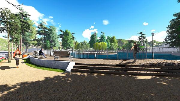 Finalizan obras de mejoramiento en el Parque Quirell